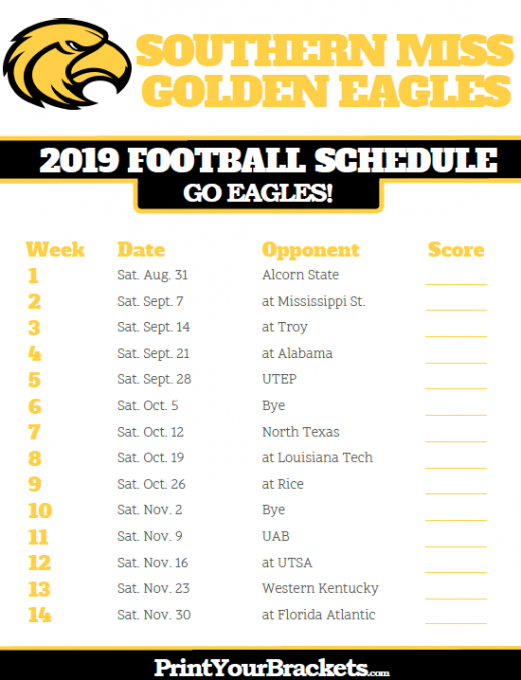 Southern Miss Golden Eagles vs. Western Kentucky Hilltoppers at M.M. Roberts Stadium