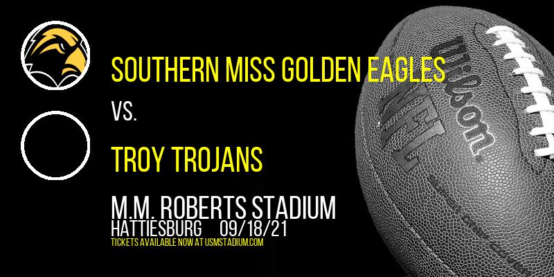 Southern Miss Golden Eagles vs. Troy Trojans at M.M. Roberts Stadium