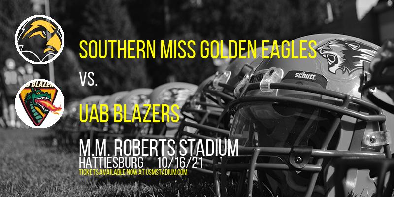 Southern Miss Golden Eagles vs. UAB Blazers at M.M. Roberts Stadium