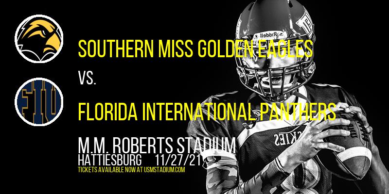 Southern Miss Golden Eagles vs. Florida International Panthers at M.M. Roberts Stadium